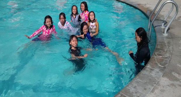 Olah Raga Pagi di Suncity Water and Theme Park