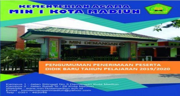 PENGUMUMAN HASIL PENERIMAAN PESERTA DIDIK BARU TAHUN PELAJARAN 2019/2020